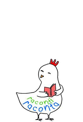 Logo petite poule qui lit